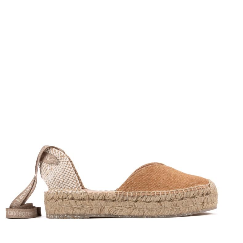 Sandalias negras de yute
