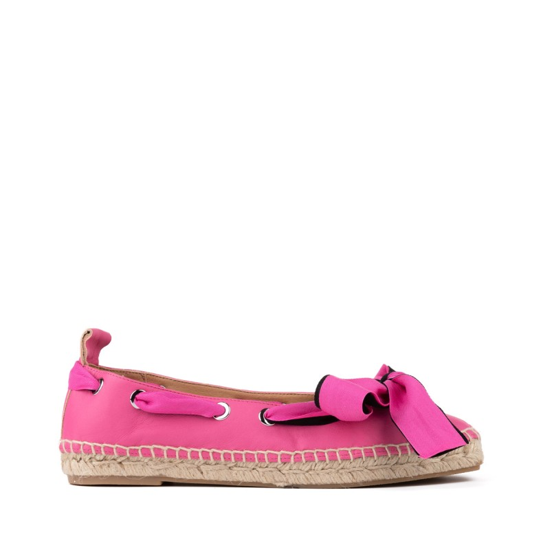 Red jute wedge