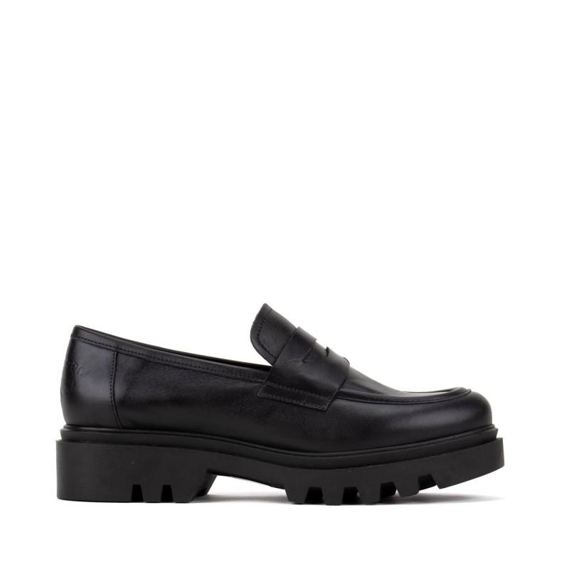 Sandalia plataforma oro