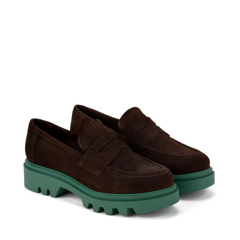 Sandalia alta marron