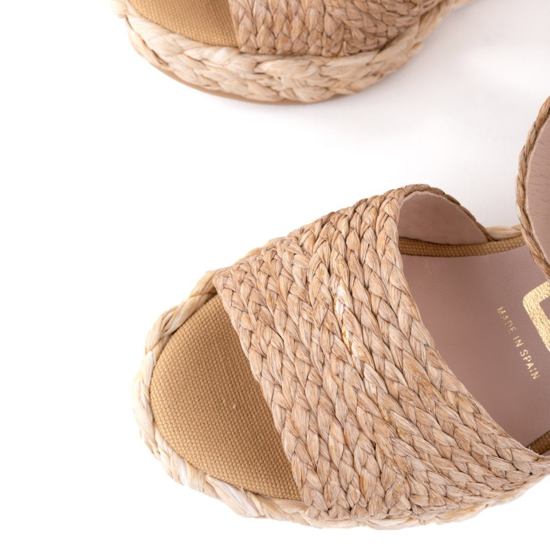 Sandalia plataforma rojo