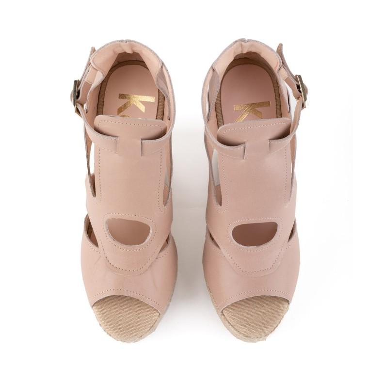 Sandalia de yute blanco