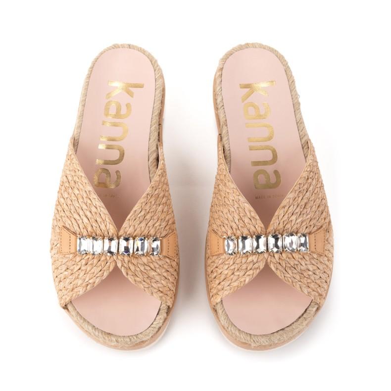 Sandalia de yute marron