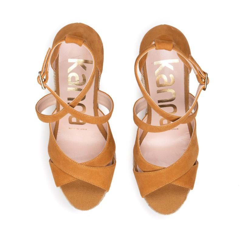 Sandalia de yute beig