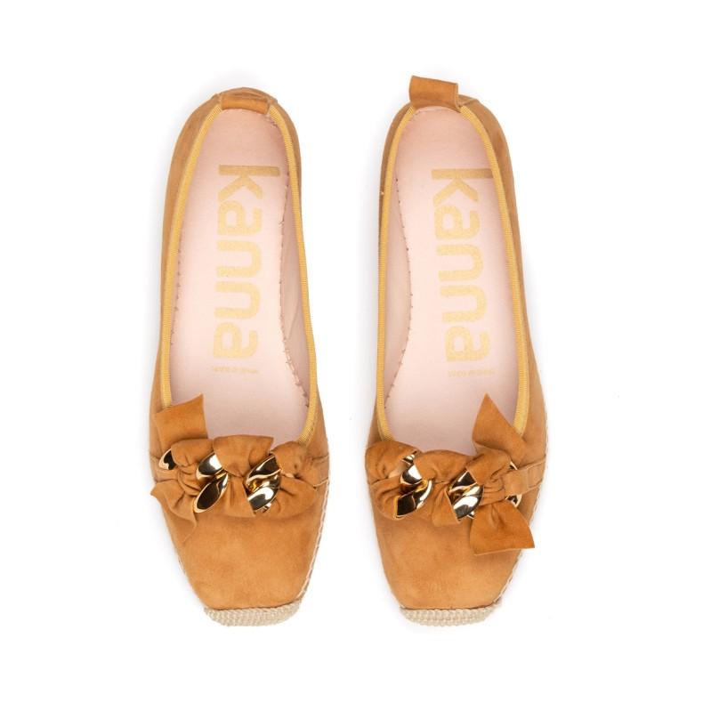 Sandalias de yute azules