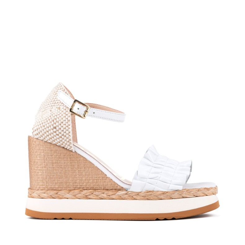 Blue jute wedges